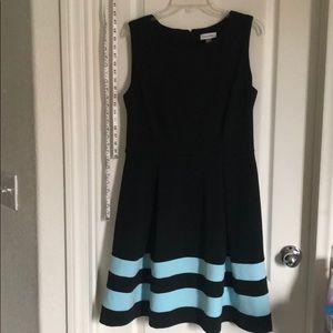 Calvin Klein black with blue dress